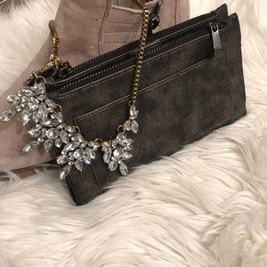 Handbags - Brushed pewter clutch